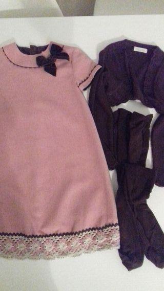 Vestido y chaqueta dolce petit