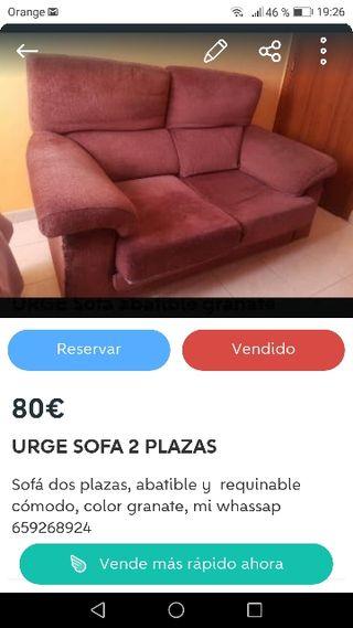 URGE Sofa reclinable y abatible
