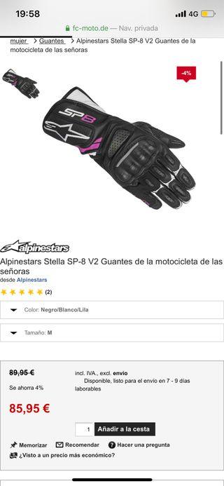 Guantes Alpinestar Stella SP-8 V2