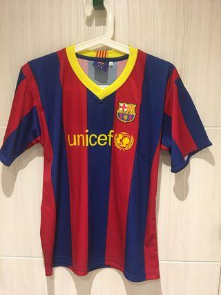 Camiseta fútbol Barça original talla 12 sin usar