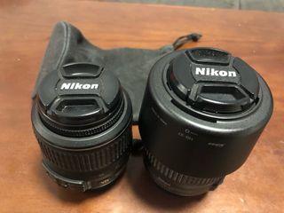 Objetivos Nikon 18-55 y 55-200