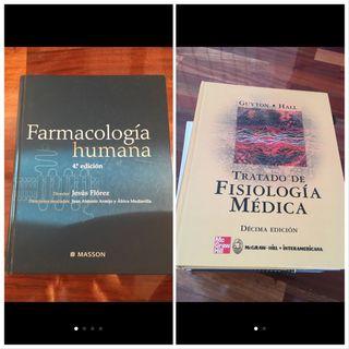 Libros medicina: fisiología + farmacología
