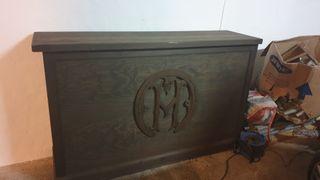 mostrador de bodega de madera maciza