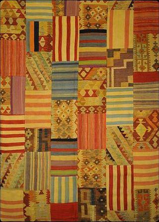 ALFOMBRA AFGANISTAN PATCHWORK 146 X 209