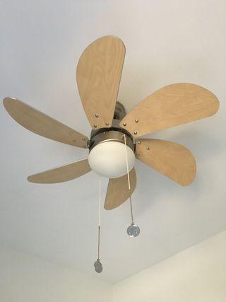 Lámpara de techo ventilador