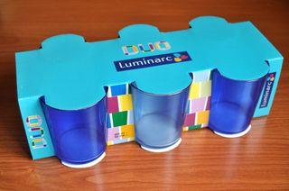 Juego de 6 vasos azules LUMINARC (A ESTRENAR)