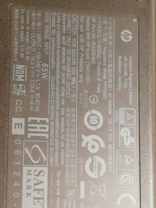 cargador portátil HP Elitebook