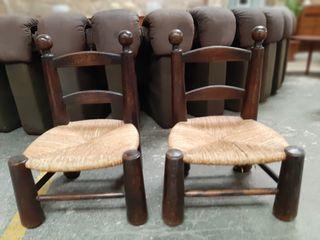 silla rústicas francesas años 60