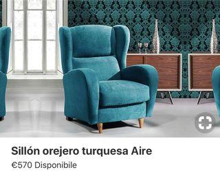 Butaca sillón tapizado