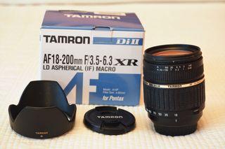 Objetivo Tamron 18-200 mm para cámaras Pentax