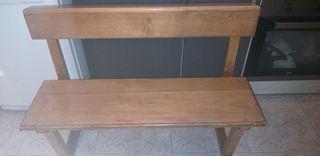 banco de madera 1.05cm de largo