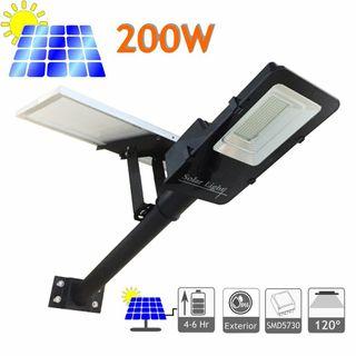 Farolas solar LED 60w, 100w y 200w panel placa