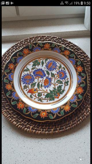 plato porcelana