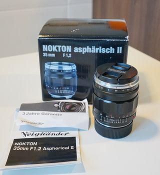 Voigtlander nokton 35mm f1.2 Leica M 35 mm 1.2 II