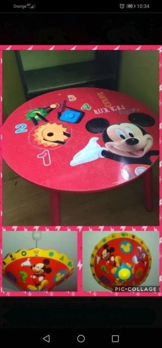 mesa y lámpara mickey mouse urge