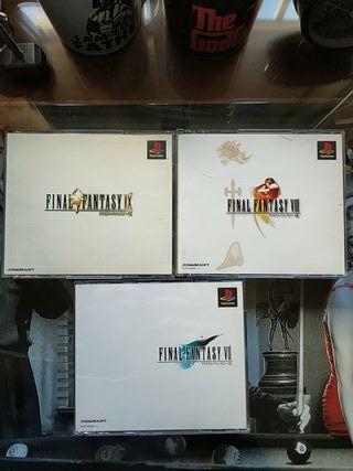 Pack PSX Final Fantasy VII + VIII + IX (Japonés)