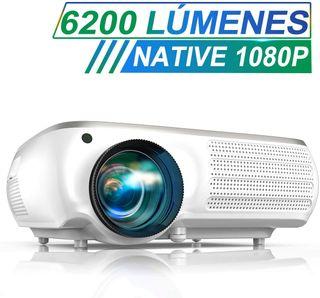 Proyector TOPTRO 6200 Lúmenes Full HD 4k zoom