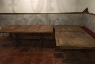 Mesa de madera maciza para bodega