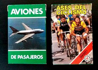 Lote 2 barajas Ciclismo 92 y Aviones de pasajeros