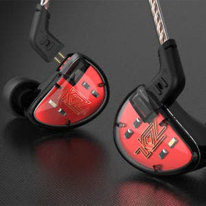 Auriculares HiFi KZ AS10 en color rojo
