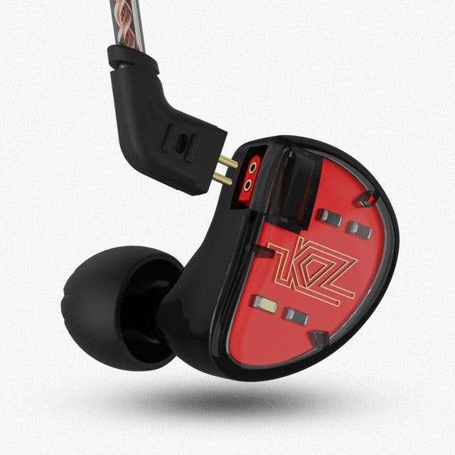 Auriculares HiFi KZ AS10 en color rojo