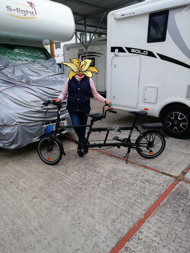 tándem bicicleta