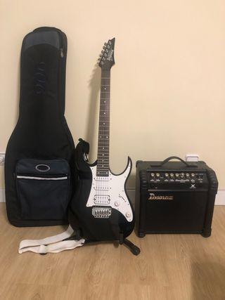 Guitarra y bajo eléctrico Ibañez y amplis