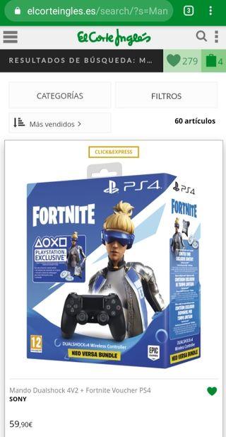 Mando PS4 FORNITE