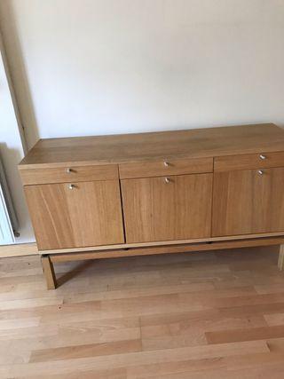 Mueble TV IKEA BJURSTA ROBLE