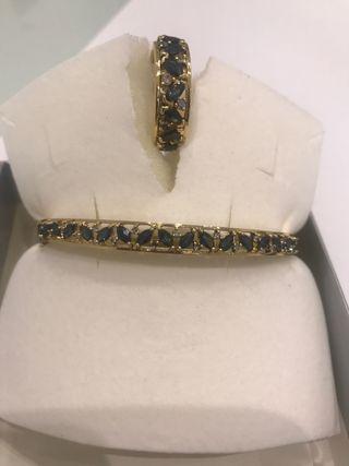 Conjunto anillo y pulsera oro