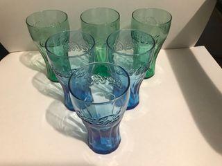 6 Vasos de Coca Cola Cristal