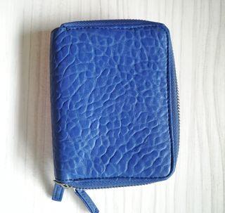 cartera monedero azul electrico