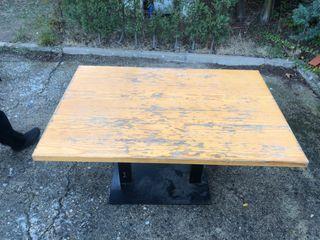 Mesa vintage madera y hierro