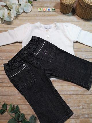 3/6 meses pantalon bebe niña