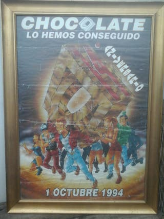 cartel enmarcado chocolate 1994