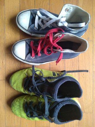 zapatillas converse y multitacos adidas