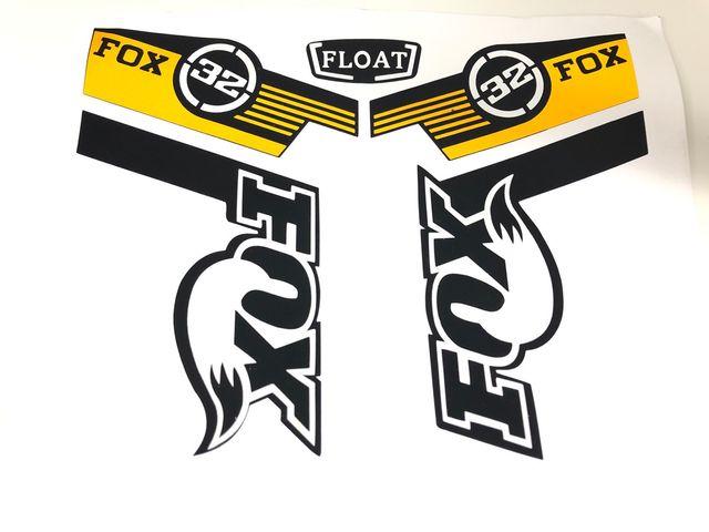 Pegatinas fox 32 amarillas