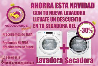 PROMOCION EN TU COMBO LAVADORA+SECADORA (30%)