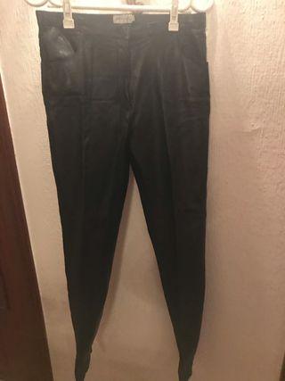 Pantalón de piel negro recto NUEVO