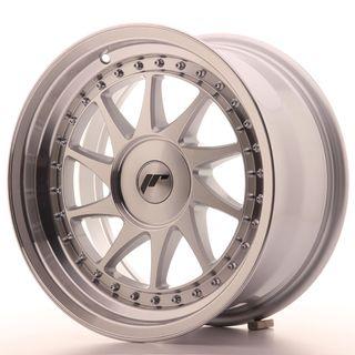 Japan Racing JR26 16x8 ET10-30 Blank Mach Silver