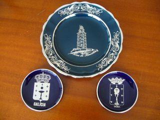 Vendo Platos de porcelana y plata Galicia