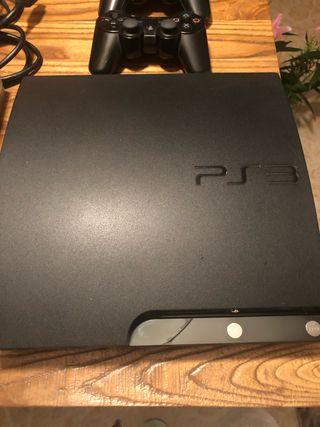 PS3 con 2 mandos 10 juegos y karaoke