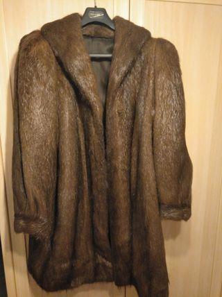abrigo de pelo de nutria
