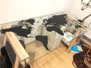 Mesa Cristal IKEA Mapamundi de segunda mano por 100 </div>             </div>   </div>       </div>     <div class=