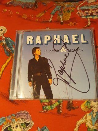 RAPHAEL DE AMOR Y DESAMOR CD FIRMADO