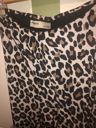 pantalón campana leopardo