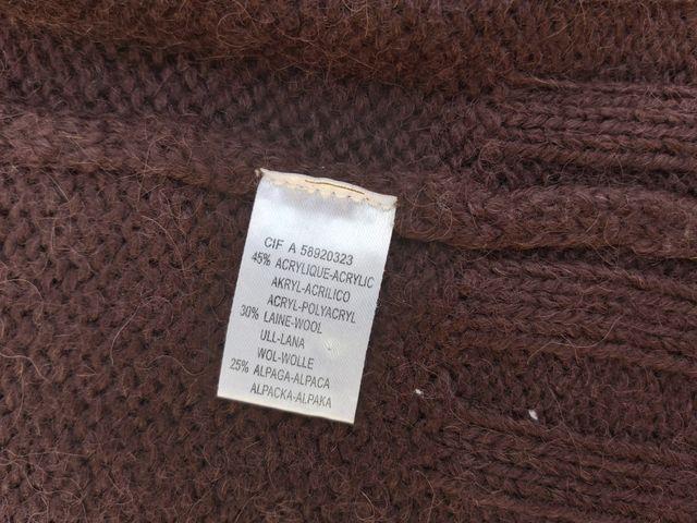 ba sh chaleco de lana y alpaca Talla M