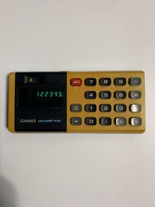 Calculadora antigua CASIO personal mini