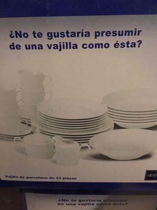 Vajilla Porcelana 33 piezas