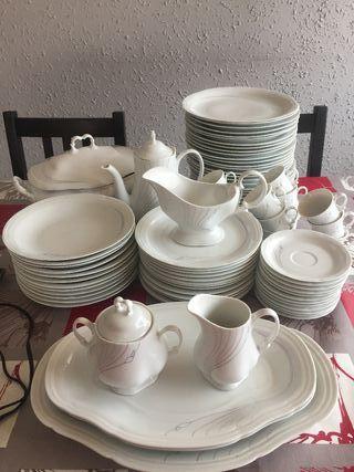 vajilla porcelana-84 piezas